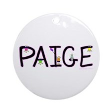 Paige (Girl) Ornament (Round)