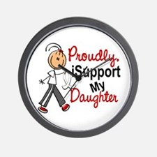 I Support My Daughter 1 (SFT LC) Wall Clock