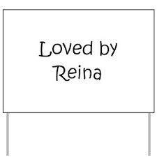 Unique Reina Yard Sign