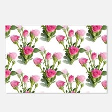 Beautiful Pink Roses Postcards (Package of 8)