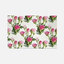 Beautiful Pink Roses Rectangle Magnet