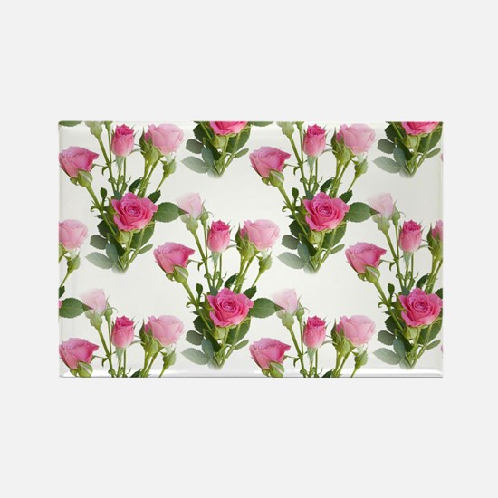 Beautiful Pink Roses Rectangle Magnet