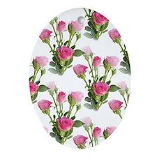 Beautiful Pink Roses Keepsake (Oval)