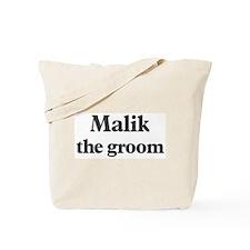 Malik the groom Tote Bag