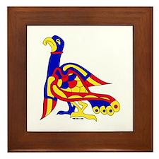 Kells Bird Framed Tile