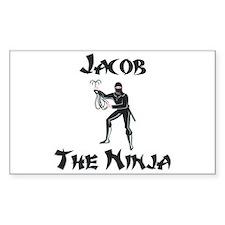 Jacob - The Ninja Rectangle Decal