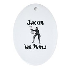 Jacob - The Ninja Oval Ornament