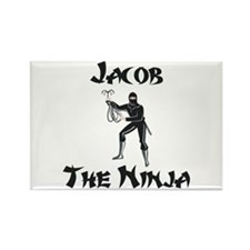 Jacob - The Ninja Rectangle Magnet