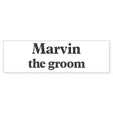Marvin the groom Bumper Bumper Sticker