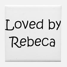 Unique Rebeca Tile Coaster