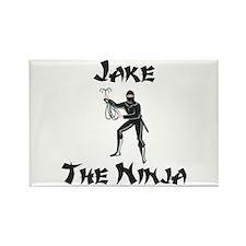 Jake - The Ninja Rectangle Magnet