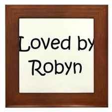 Cute Robyn Framed Tile