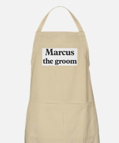 Marcus the groom BBQ Apron