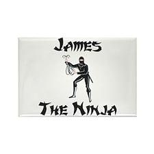 James - The Ninja Rectangle Magnet