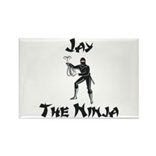 Jay - The Ninja Rectangle Magnet