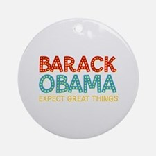 Expect Great Things Keepsake Ornament (Round)