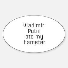 Putin_hamster Sticker (Oval)