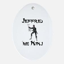 Jeffrey - The Ninja Oval Ornament