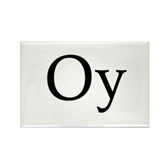 """Jewish """"Oy"""" Rectangle Magnet (100 pack)"""