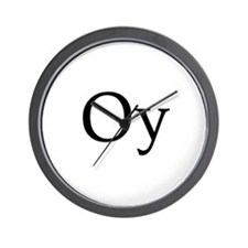 "Jewish ""Oy"" Wall Clock"