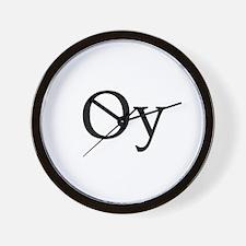 "Jewish ""Oy"" Wall Clock"