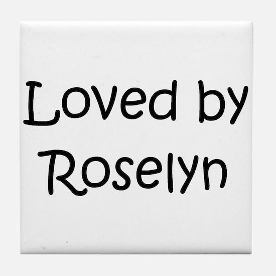 Cute Roselyn Tile Coaster