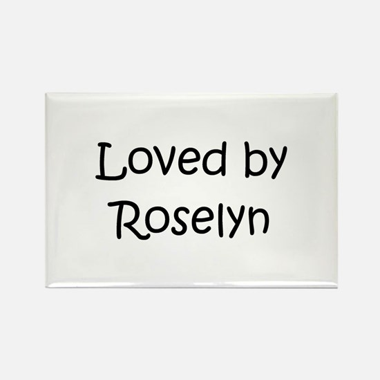 Cute Roselyn Rectangle Magnet