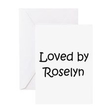 Unique Roselyn Greeting Card