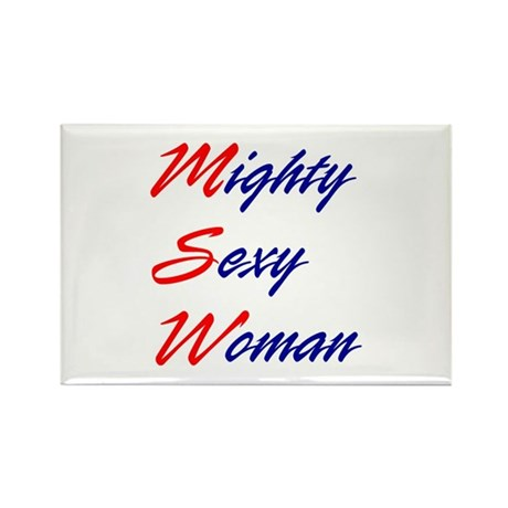 Mighty Sexy Woman Rectangle Magnet