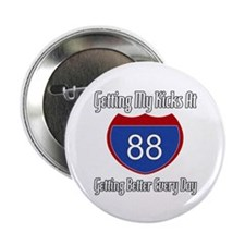 """88th Birthday 2.25"""" Button (10 pack)"""
