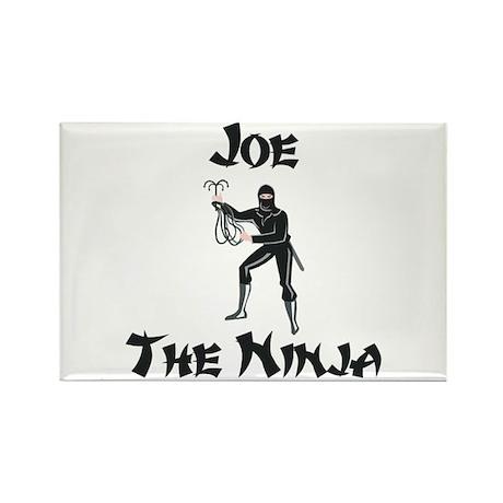 Joe - The Ninja Rectangle Magnet