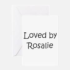 Unique Rosalie Greeting Card