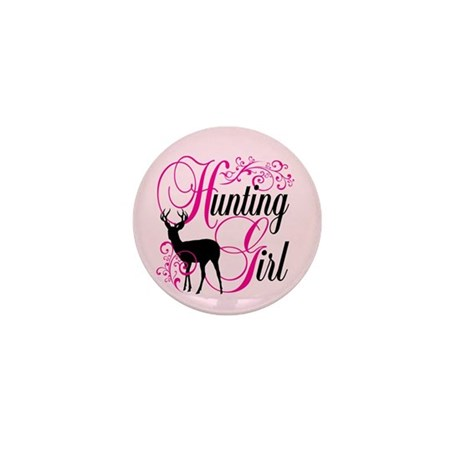 Hunting Girl Mini Button