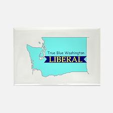 True Blue Washington LIBERAL | Rectangle Magnet