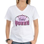 Srapbook Queen Women's V-Neck T-Shirt