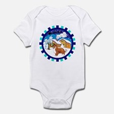 Log Cabin Sheltie Infant Bodysuit
