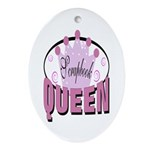 Srapbook Queen Oval Ornament