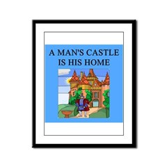 hine is his castle Framed Panel Print