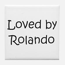 Cute Rolando Tile Coaster