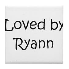Cute Ryann's Tile Coaster