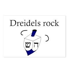Jewish Dreidels Rock Postcards (Package of 8)