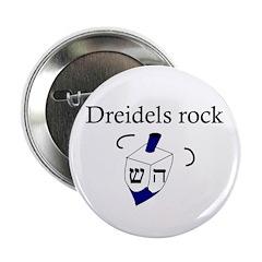 Jewish Dreidels Rock Button