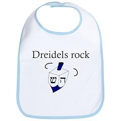 Jewish Dreidels Rock Bib