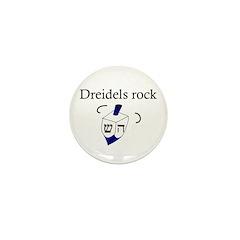 Jewish Dreidels Rock Mini Button (10 pack)
