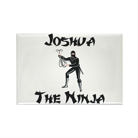 Joshua - The Ninja Rectangle Magnet
