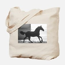 Friesian Filly Tote Bag