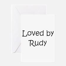 Cute Rudy Greeting Card