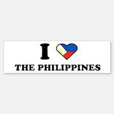 I LOVE THE PHILIPPINES Bumper Bumper Bumper Sticker