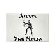 Julian - The Ninja Rectangle Magnet