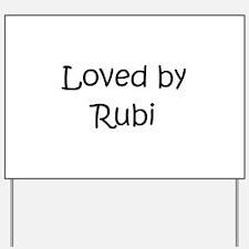 Cool Rubi Yard Sign